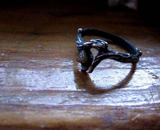 My Diamond In the Rough Dark Angel handmade by GriffinsNestJewelry, $72.98