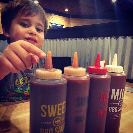 Decisions, decisions… #SonnysBBQ #BBQSauce Photo Credit: @fotogmamainthesouth