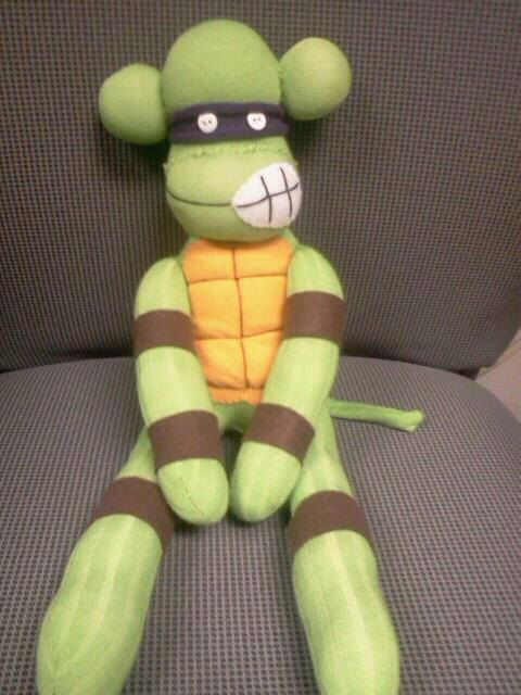 Ninja+Turtle+Sock+Monkey+by+punkimunki+on+Etsy,+$45.00