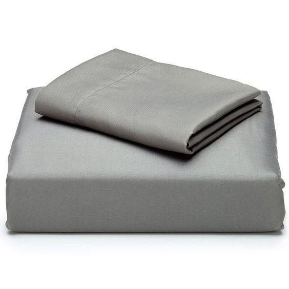 Twin size 3-Piece Sheet Set in Charcoal Grey Microfiber