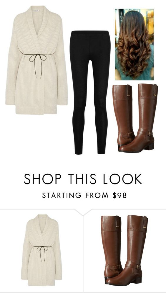 """""""Untitled #366"""" by hannahmcpherson12 ❤ liked on Polyvore featuring Helmut Lang, Bandolino and Donna Karan"""