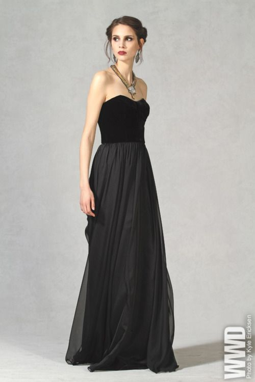 black gown..