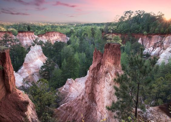 Providence Canyon  Georgias Little Grand Canyon [50233588] [OC] #reddit