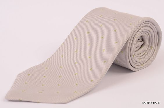 KITON Napoli Hand-Made Seven Fold Gray Textured Silk Tie NEW