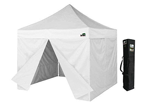Eurmax 10x10 Pop Up Canopy Tent Party Gzaebo Shelter W Full Walls And Carry Bag White Read More Reviews Of The Product By Tent Canopy Tent Lightweight Tent