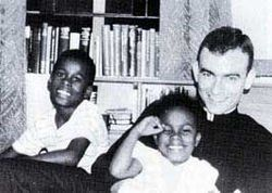 Jonathan Myrick Daniels (March 20, 1939 – Augist 20, 1965) was a graduate of VMI & an Episcopal seminarian who fought for civil rights. On Aug 14, 1965, Daniels went to picket whites-only stores in Fort Deposit, AL. The protesters were arrested and taken to jail in Hayneville. On Aug 20, he was released and went to get a drink. A white supremacist attempted to shoot a young African American teenager with him. He jumped in front of her and was killed. Episcopal Commemoration: 14 Aug