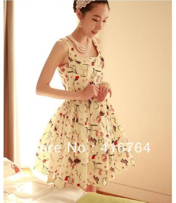 Mulheres 2013 Mulheres de primavera e verão da Moda de impressão mangas princesa vestido floral plissado do transporte vestido de uma peça grátis