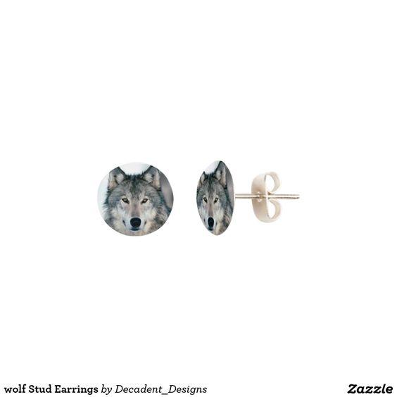 wolf Stud Earrings
