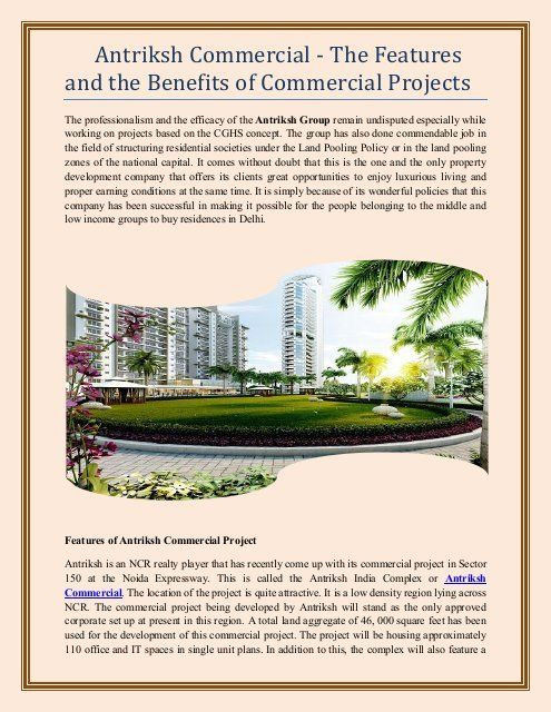 Best Commercials Of 2021 Antriksh Group provide you the best commercial project like office