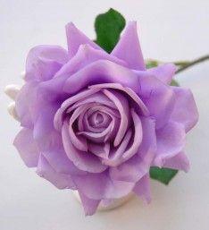 Lilac Large Open Cottage Rose Wedding Flower Sample