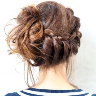 Astounding Low Side Messy Bun Braid Hair Nails And All The Above Hairstyles For Women Draintrainus