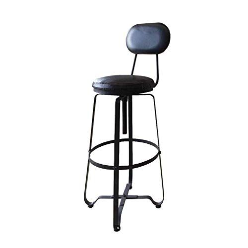 Bar Stool Swivel Adjustable Kitchen Dining Chair Pub Metal Breakfast Backrest Footrest Lounge B Kitchen Breakfast Bar Stools Bar Stools Modern Style Bar Stools