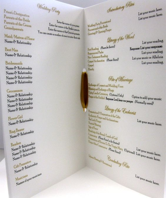 Catholic Wedding Ceremony Program: Traditional, Catholic Wedding And Wedding On Pinterest