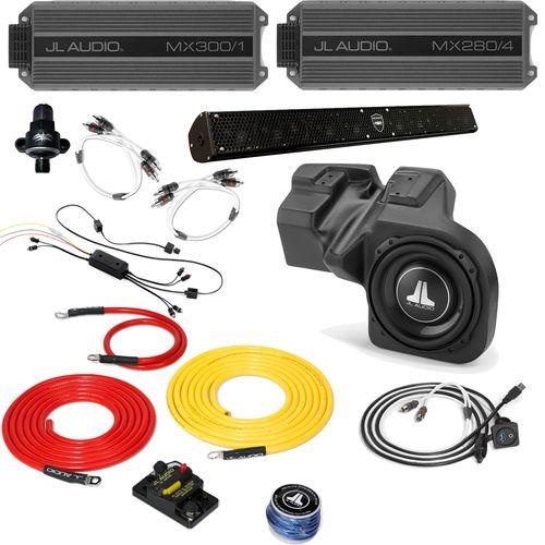 Polaris RZR 2011-2013 - Full System - JL Audio StealthBox & MX Amps, WetSounds sound bar, Bluetooth Receiver + Wires