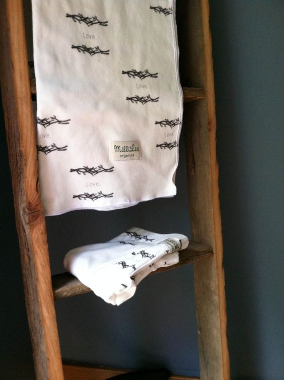 Barn Wood Ladder 48 x 14 Rustic Baby Blanket by NewRusticRevival, $28.00