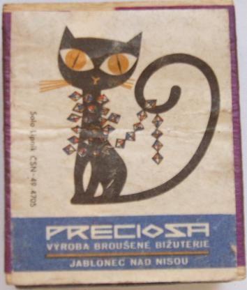 nálepka na zápalkách, Czechoslovakia, 60.-70.léta