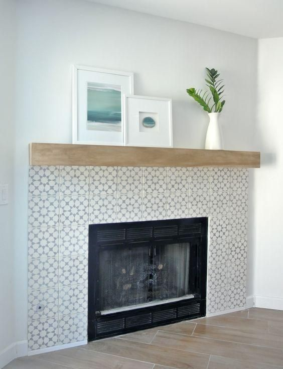 Boost Your Fireplace Surround Real Cement Tiles Vs Creative Diy Ideas Get The Same Look For Less Fireplace Tile Surround Simple Fireplace Diy Fireplace Makeover