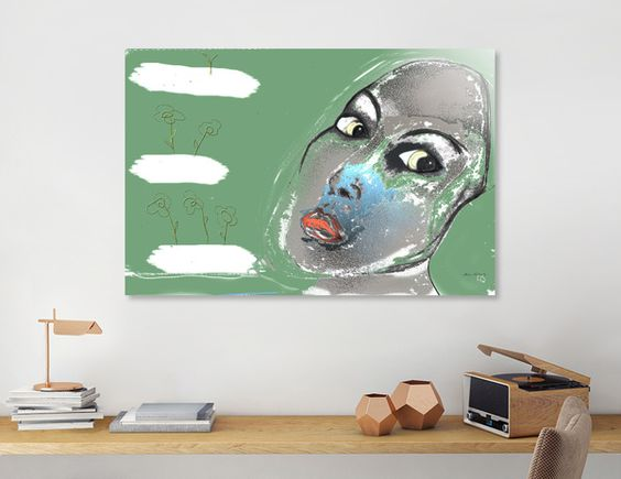 Discover «Lady Green», Numbered Edition Acrylic Glass Print by AnnaSavArt - From $69 - Curioos