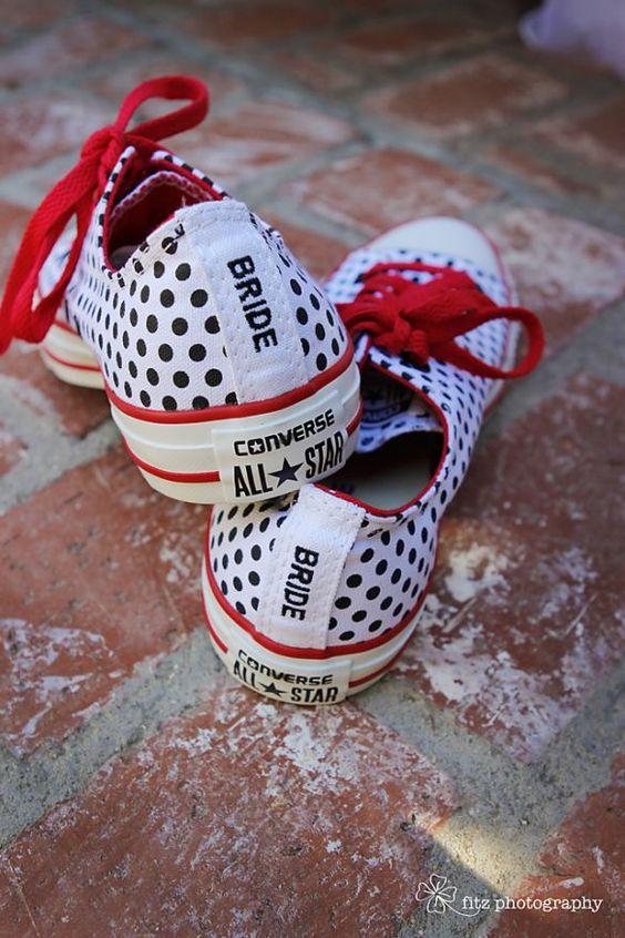 Rockabilly wedding bride sneakers as an alternative wedding shoe- my feet would ...