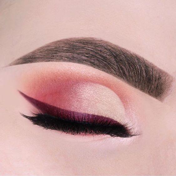 Burgundy eye liner