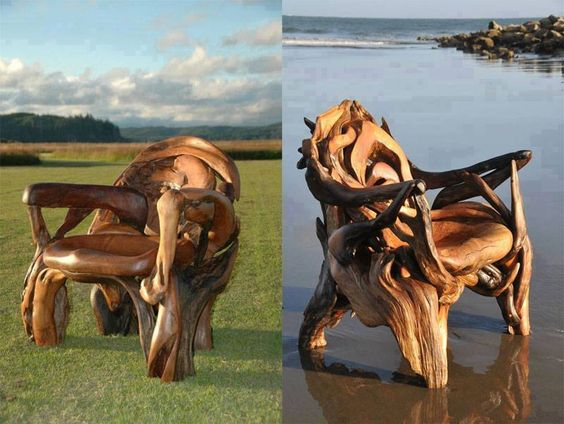 wood sculpture chair http://webneel.com/wood-carving | Design Inspiration http://webneel.com | Follow us www.pinterest.com/webneel