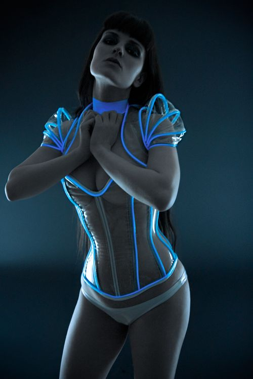 TRON has brought us many great moments, but perhaps this is its finest. Is this what everyone will dress like in the future... hopefully? It looks very functional to me. I think we'll be seeing these on the streets of small town USA soon