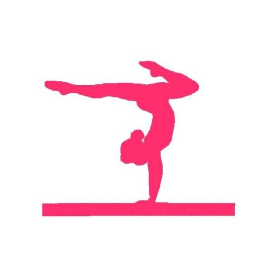 Gymnastic Silhouette Decals pink | gymnastics-silhouette-leap-simple ...