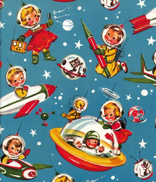 Vintage gift wrapping paper
