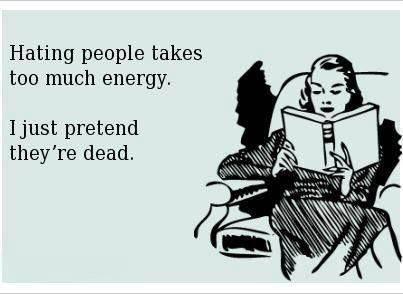 Pretending they're dead...LOL