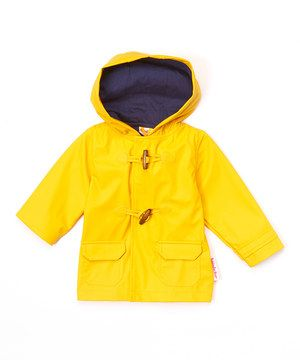 Paddington Bear Yellow Hooded Toggle Rain Jacket - Infant