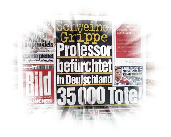 Die Schweinegrippe 2009 - Ein Wahnsinn in mehreren Akten: http://renegraeber.de/blog/tag/schweinegrippe/