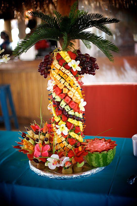 Fruit cheese tree beach appetizer wedding buffet