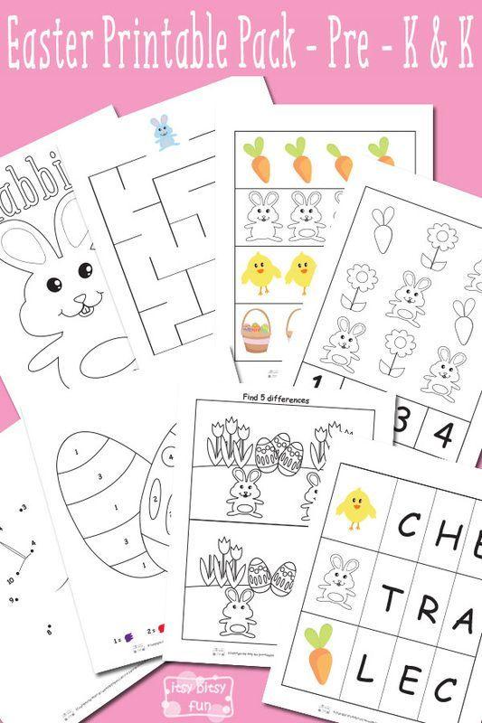 Free kindergarten worksheets for easter