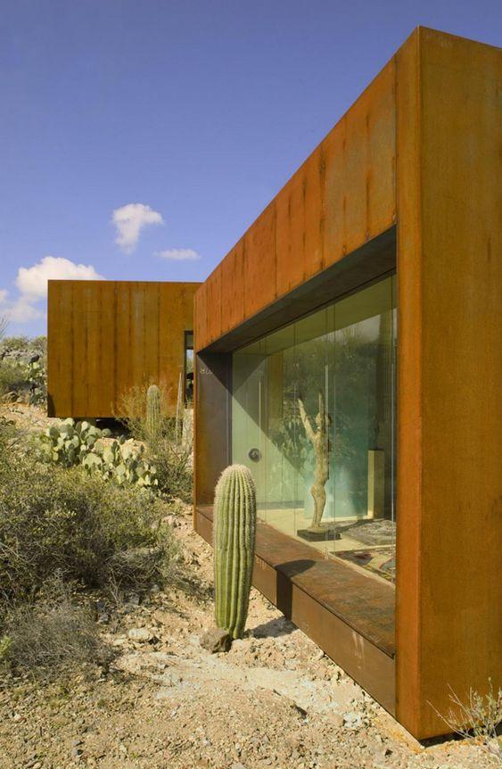 Steel and glass house architect rick joy tucson az for Architecture nomade