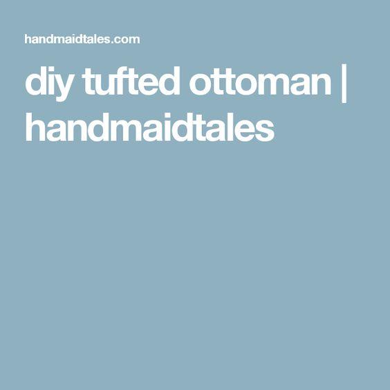 diy tufted ottoman | handmaidtales