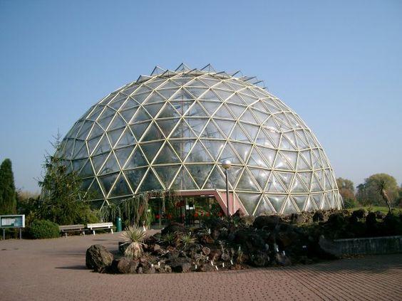 Gewächshaus, Botanisches Institut, Heinrich-Heine-Universität, Düsseldorf.