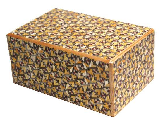 5 Sun 12+1 Step Kirichigai Japanese Himitsu Bako Puzzle Box
