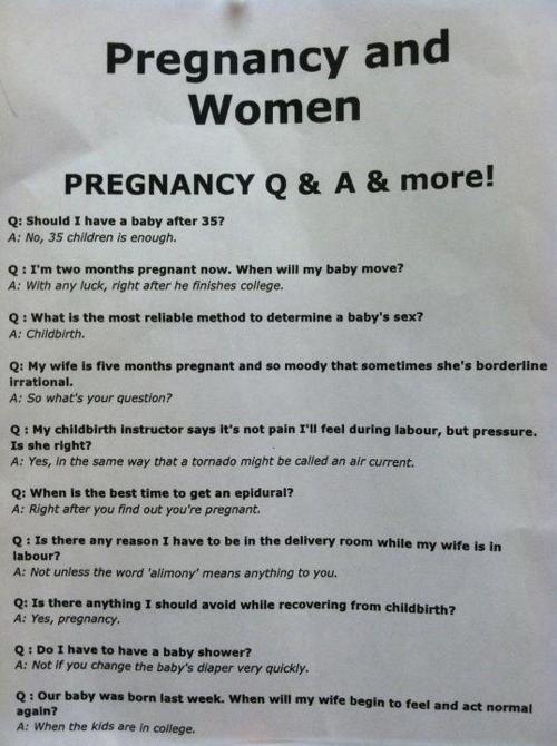 pregnancy FAQ