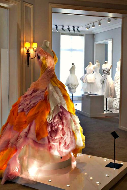 a wedding gown like this.   Backstage at the Théâtre Illuminata