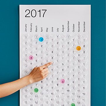 BUBBLE WRAP CALENDAR: