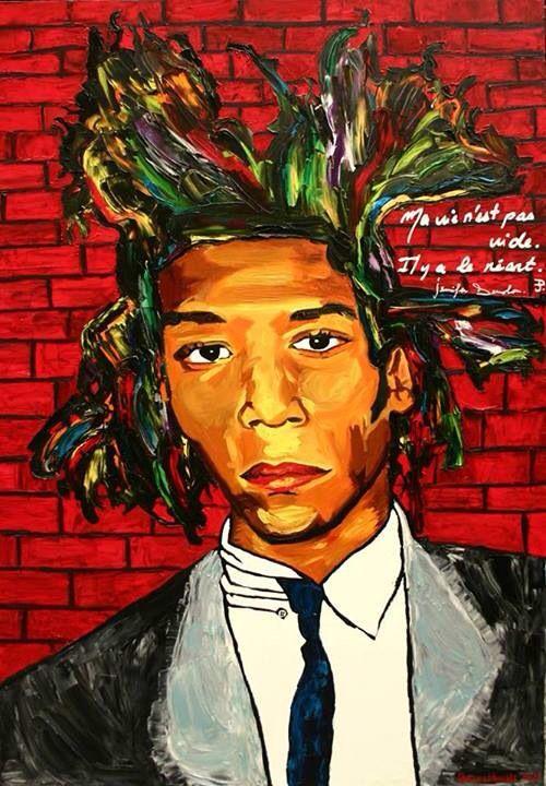 Basquiat oil 116x89cm