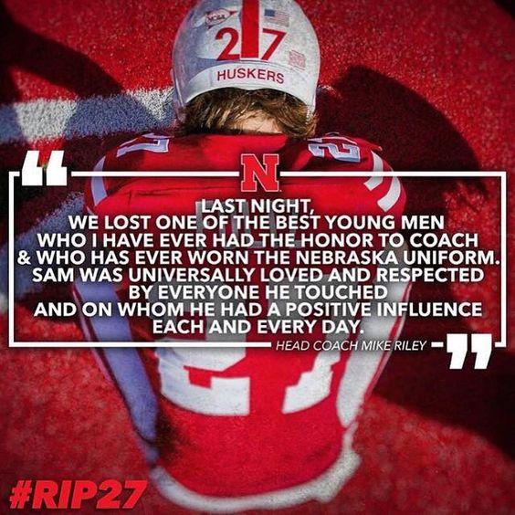😞🙏🏻 .. RIP Sam Foltz and also Mike Sadler #rip27 #huskernation