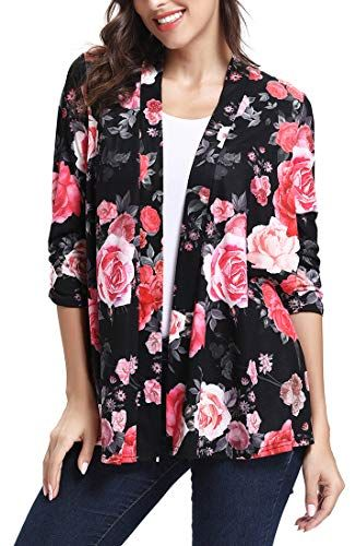 4947d71d01 New WFTBDREAM Womens Floral Kimono Cardigans 3/4 Sleeves Open Front Coverup Cardigans  online. [$16.99] from top store weloveoffer