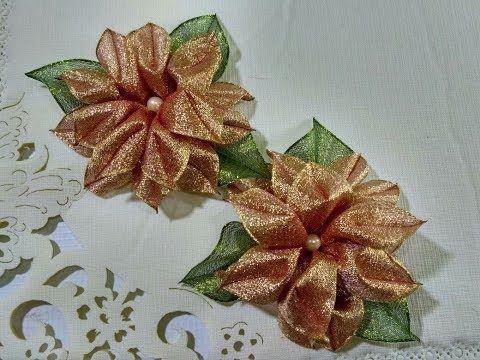 Nochebuena Espectacular En Carpeta O Individual Youtube Manualidades Tutorial De Flores De Tela Artesanías De Navidad