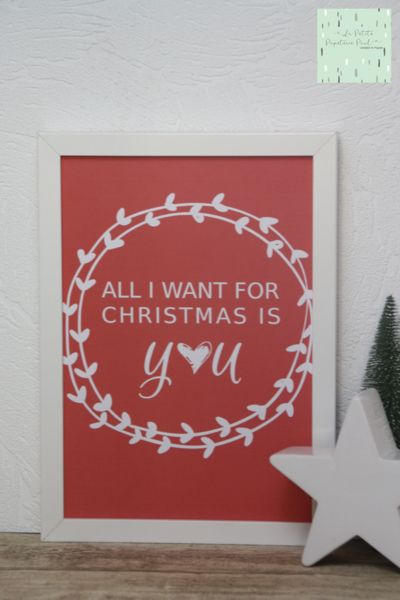 "Print+""All+I+want+for+Christmas+is+you""+von+La+Petite+Papeterie+Paul+auf+DaWanda.com"