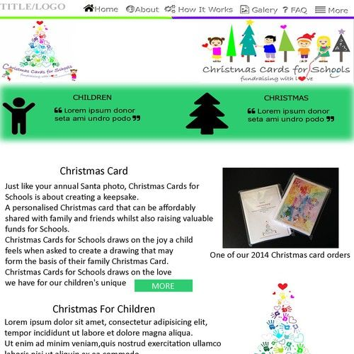Do You Love Christmas Kids And Art Then You Ll Love Designing A Home Page For Christmas Cards For Sc School Christmas Cards Contest Design Simple Logo Design