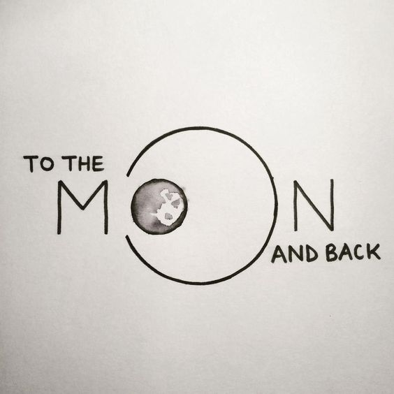 To the moon and back Hand lettering by Heidi Nicole: