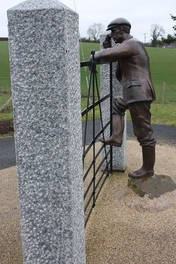 Harry Ferguson Sculpture, Harry Ferguson Memorial Garden, Magheraconluce Road, Growell, County Down, Northern Ireland