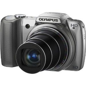 Olympus SZ-10 14 MP Digital Camera with 28mm Wide-Angle 18x Optical Zoom and 3 LCD (Silver),$169.99