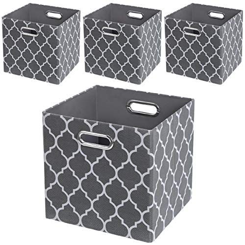Posprica Storage Bins Storage Cubes 11 11 Collapsible Storage Boxes Baskets Containers Drawers More Durab Fabric Storage Bins Fabric Storage Cubes Cube Storage